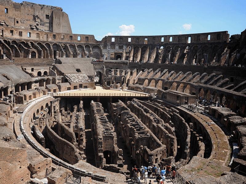 rome colosseum van binnen