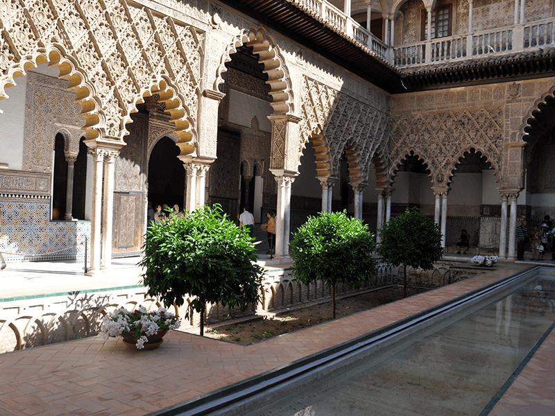 Sevilla real alcazar gebouw