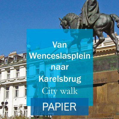Van Wenceslasplein naar karelsbrug city walk Cover Papier
