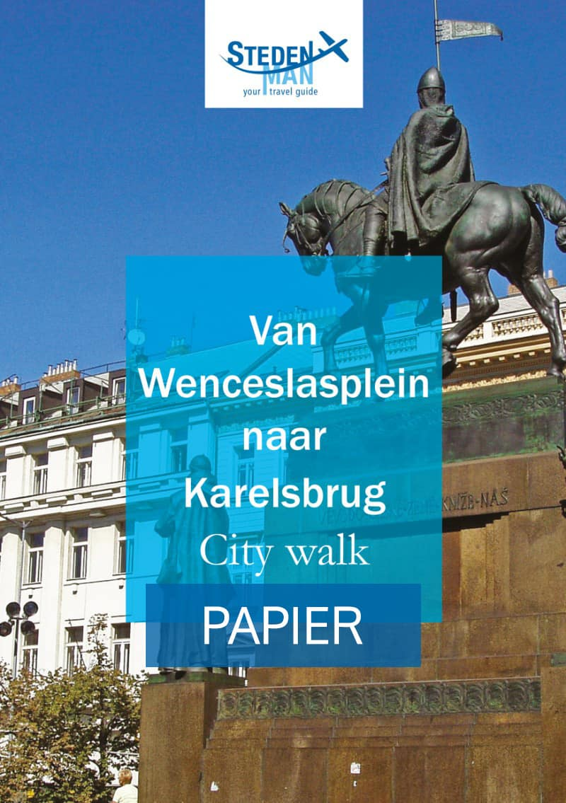 Van Wenceslasplein naar karelsbrug city walk Cover Papier